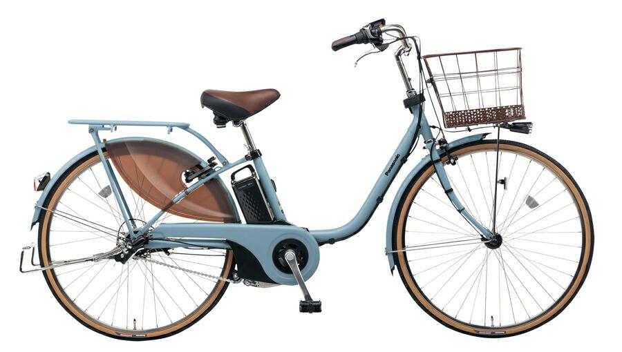 電動自転車 パナソニック Panasonic ビビ スタイル KE-ELDS633 T 26インチ マットブルーグレー 電動アシスト自転車 格安 激安 電動自転車 電動ママチャリ 電動アシスト自転車 BAA 大きなかご