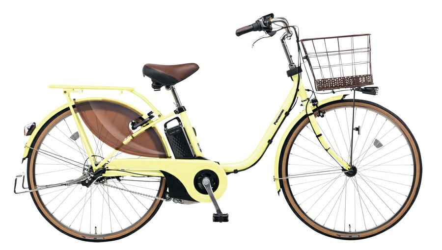 電動自転車 パナソニック Panasonic ビビ・スタイル KE-ELDS633 Y 26インチ パウダーイエロー イエロー 黄色 電動アシスト自転車 格安 激安 電動自転車 電動ママチャリ 電動アシスト自転車 BAA 大きなかご