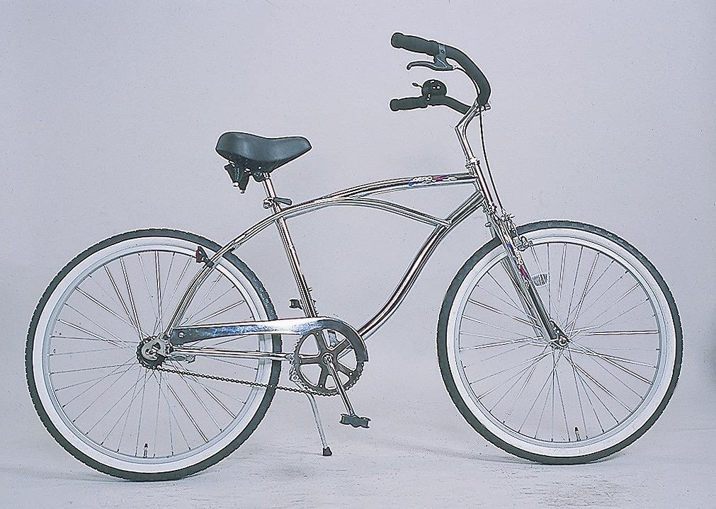 ビーチクルーザー 自転車 HB-260BC-M-CP シルバー 20インチ 26インチ ビーチクルーズ サーファーの定番品!街乗りにファッションに