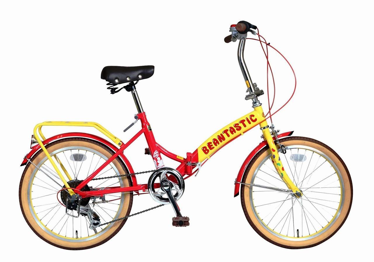 ジェリーベリー フォールディングバイク 折りたたみ自転車 20インチ 外装6段ギア 折り畳み自転車 自転車 ギア付き イエロー レッド 黄色 赤 TJB-206FD-Y/R