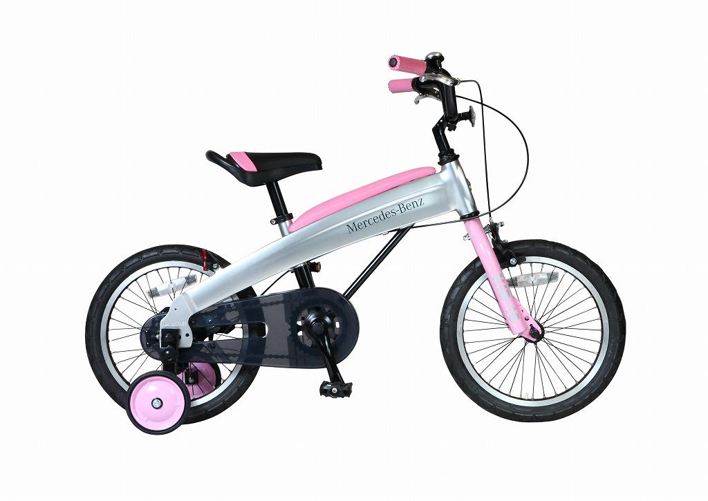 メルセデスベンツ 子供用自転車 Mercedes-Benz Kids-16 16インチ ピンク 子供 自転車 アルミニウム アルミフレーム 軽量 子供車 パンクしないタイヤ ノンパンクキッズ 自転車 ジュニア
