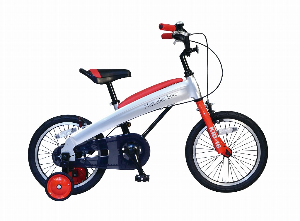 メルセデスベンツ 子供用自転車 Mercedes-Benz Kids-16 16インチ レッド 子供 自転車 アルミニウム アルミフレーム 軽量 子供車 パンクしないタイヤ ノンパンクキッズ 自転車 ジュニア