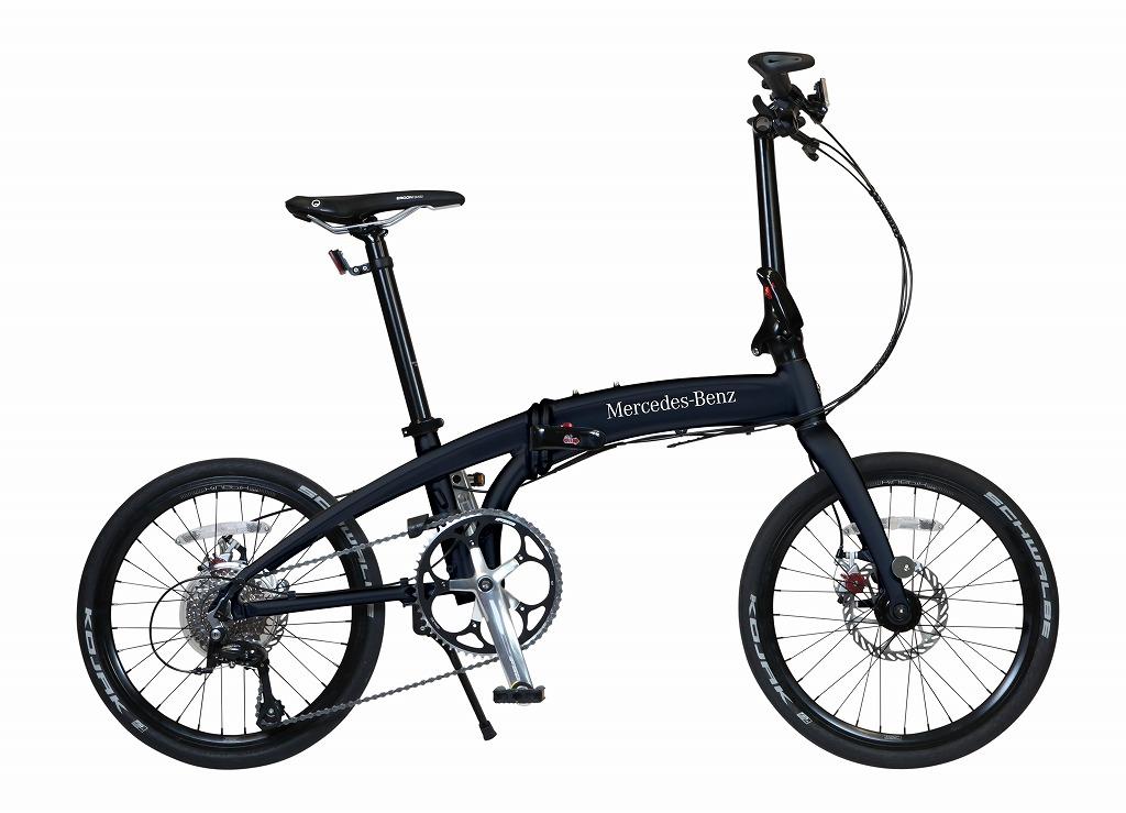 メルセデスベンツ 折りたたみ自転車 Mercedes-Benz Folding Bike MB-20FD-ST9 限定仕様 20インチ 9段変速ギア 黒 マットブラック 折り畳み自転車 アルミニウム アルミフレーム 軽量 送料無料