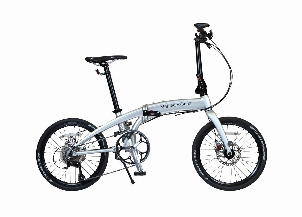 メルセデスベンツ 折りたたみ自転車 Mercedes-Benz Folding Bike MB-20FD-ST9 限定仕様 20インチ 9段変速ギア シルバー ベンツ 折り畳み自転車 アルミニウム アルミフレーム 軽量 送料無料
