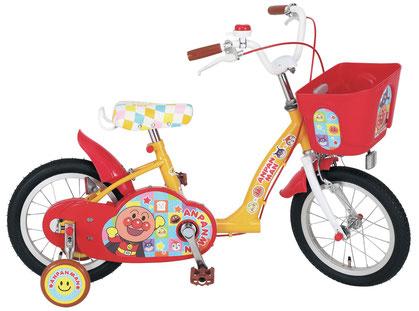 子供用自転車 それいけ! アンパンマン 14インチ 適応身長/95cm~112cm 補助輪付き かご付き 子供自転車 幼児キッズ 自転車 ジュニア