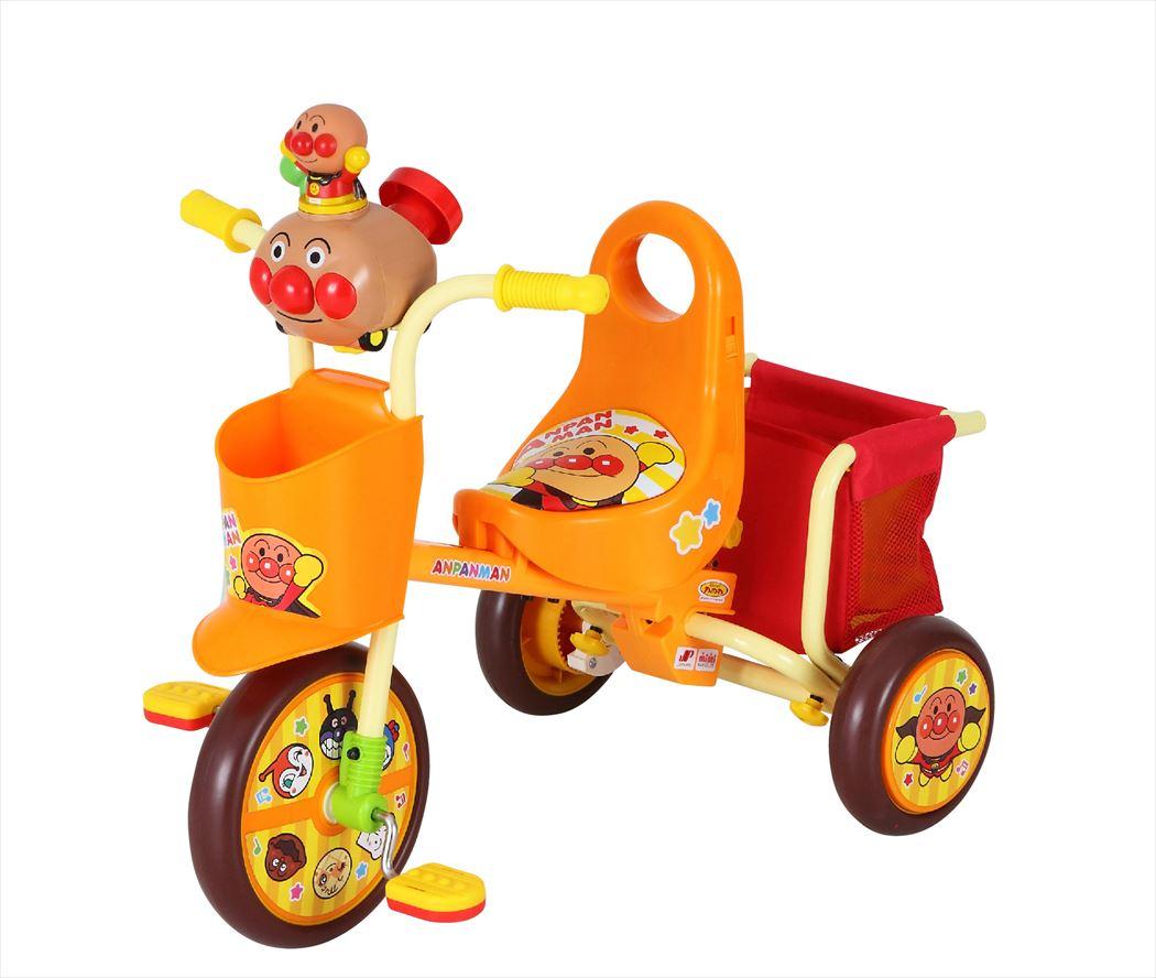 三輪車 わくわくアンパンマンごうピース2 オレンジ 対象年齢/1.5歳~4歳11ヶ月 適応身長/77cm~100cm 子供 幼児 アンパンマン バイキンマン メロンパンナちゃん ドキンちゃん