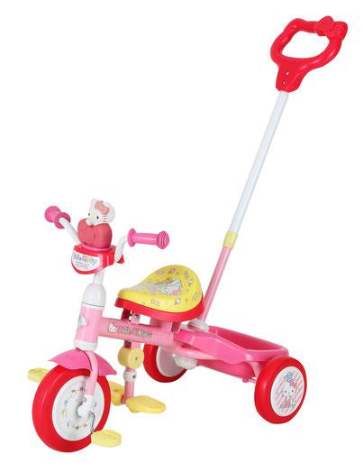 三輪車 ハローキティ Cute カジキリ三輪車 対象年齢/1.5歳~4歳11ヶ月 適応身長/77cm~100cmキティちゃん キティ 女の子 子供 幼児 売切御免