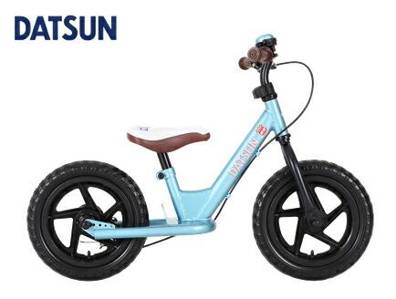 DATSUN ファーストバイク 12インチ ブルー 青 ダットサン キックバイク スタンド付 ブレーキ付 ペダルなし自転車 ランニングバイク バランスバイク キッズ 12インチ 男の子