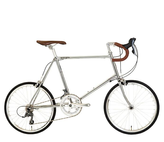 【最大21倍!エントリで! 楽天スーパーSALE】配送先関東限定 送料無料 ハリークイン ミニベロ シルバーCP 20インチ 外装16段変速ギア 自転車 Harry Quinn hromoly(Lug Welding) inivelo Model