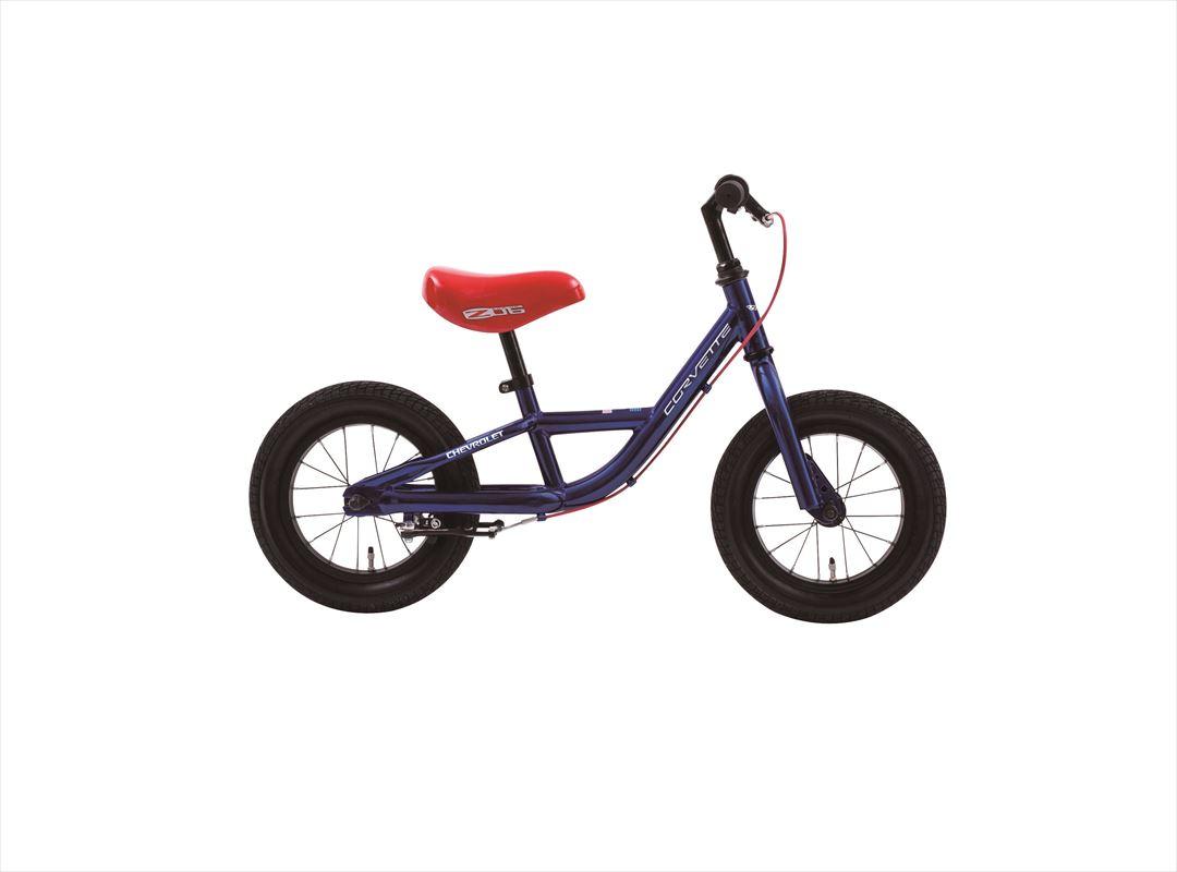 2018年モデル シボレートレーニングバイク CORVETTE TRAINEE BIKE12 12インチ ブルー 青 キックバイク ペダルなし ランバイク