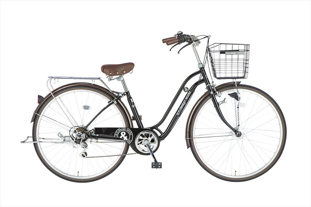 自転車 27インチ 6段ギア 276a.n.design works Family HD エーエヌデザインワークス SS276ALSFLEDHD-SNC シティサイクル 外装6段変速ギア LEDオートライト ブラック