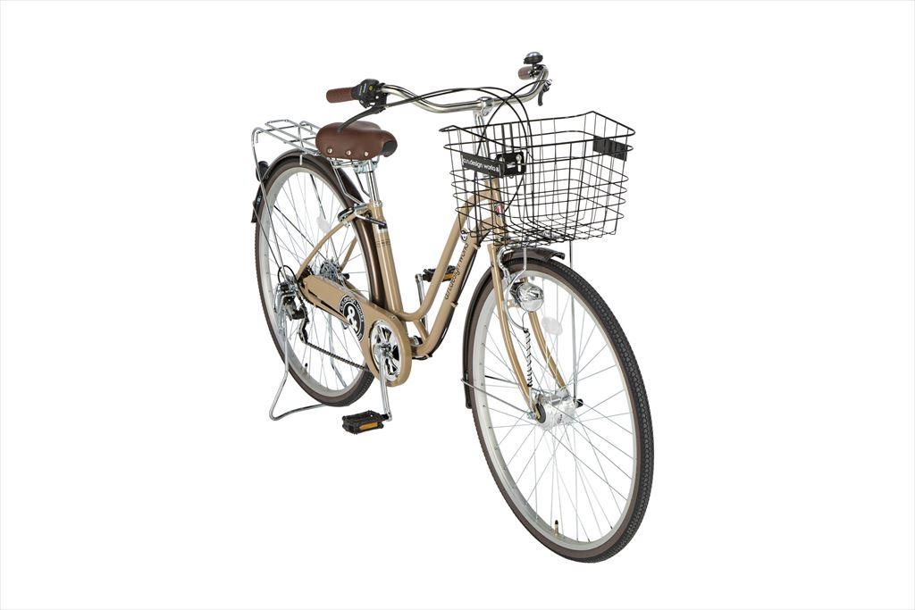 自転車 27インチ 6段ギア 276a.n.design works Family HD エーエヌデザインワークス SS276ALSFLEDHD-SNC シティサイクル 外装6段変速ギア LEDオートライト カフェ