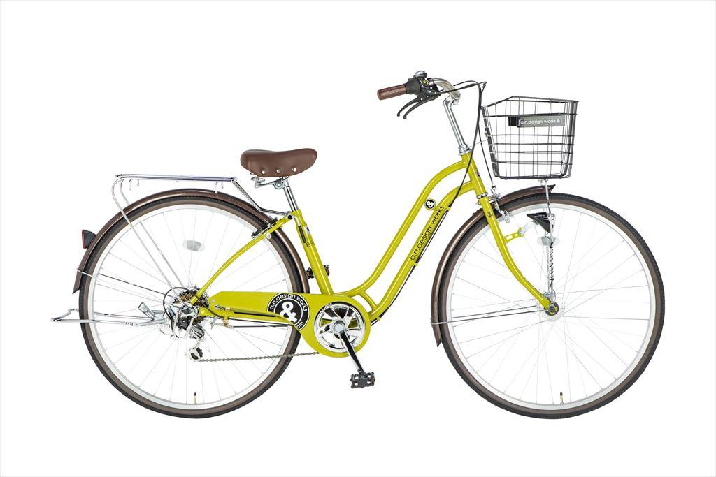 自転車 27インチ 6段ギア 276a.n.design works Family HD エーエヌデザインワークス SS276ALSFLEDHD-SNC シティサイクル 外装6段変速ギア LEDオートライト ティーグリーン
