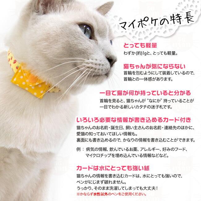 マイポケつきデイリー猫用首輪EX ロココ風小花柄