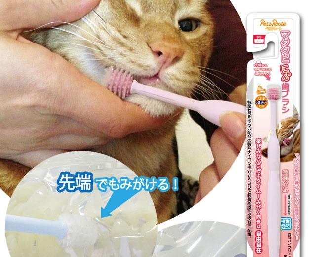 PR マタタビにゃん歯ブラシ
