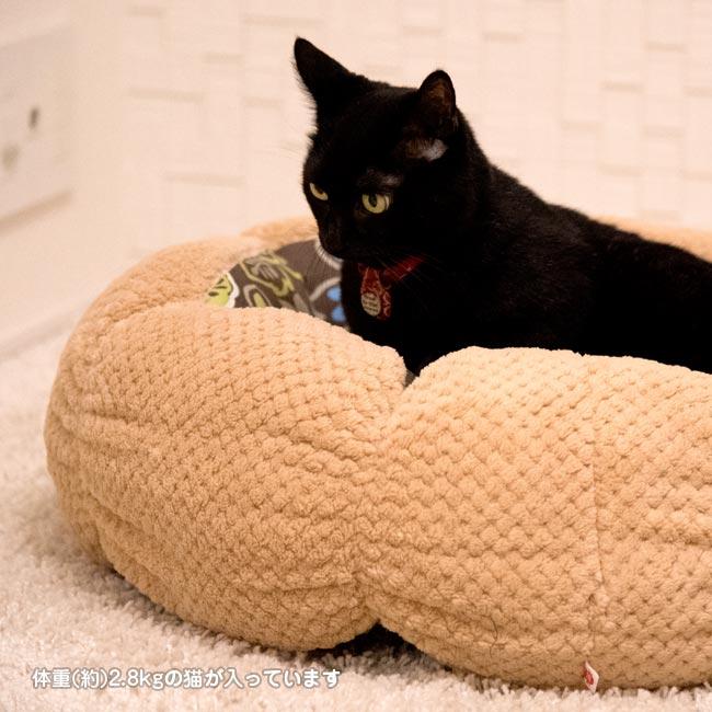 猫 ベッド 冬 あったか ゴロにゃんオリジナル あったかドーナツベッド
