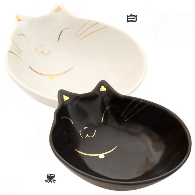 貝沼産業 瀬戸焼 猫用食器 猫の耳 深皿フードボウル
