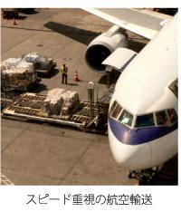 スピード重視の航空輸送