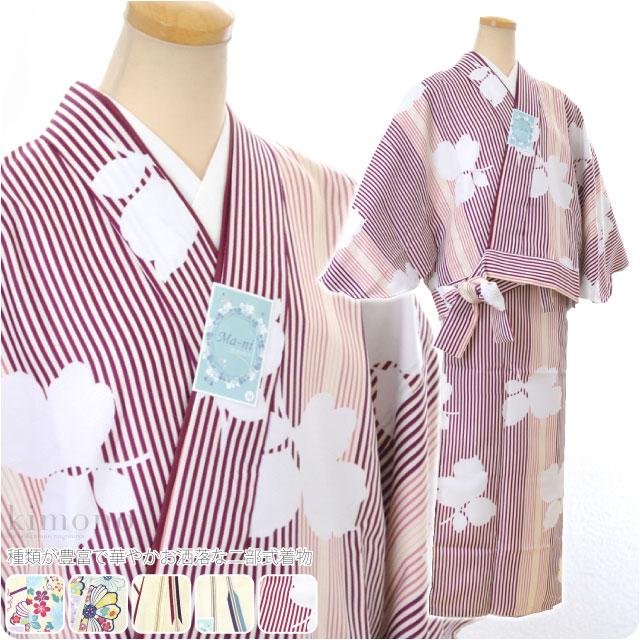 【ポリエステル着物】二部式着物 袷せ WK /Mani M・L