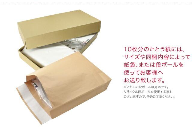 10枚分のたとう紙にはこのような段ボールを使ってお客様へお送り致します。