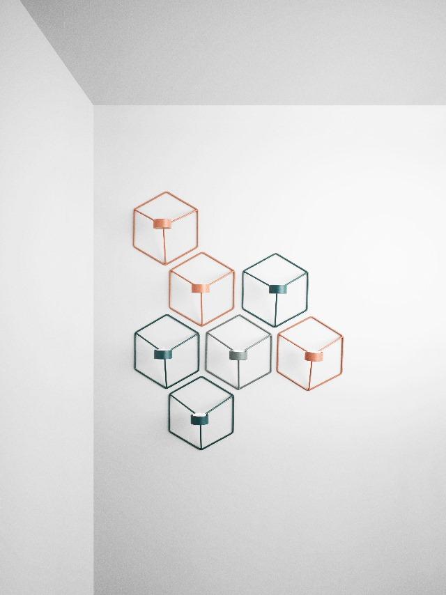 壁掛けキャンドルホルダー 四角形 スクエア 北欧キャンドルホルダー 北欧雑貨 ブランド