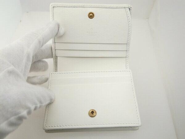 【中古】 グッチ ダブルG カードケース ミニウォレット 白 ホワイト 質屋出品