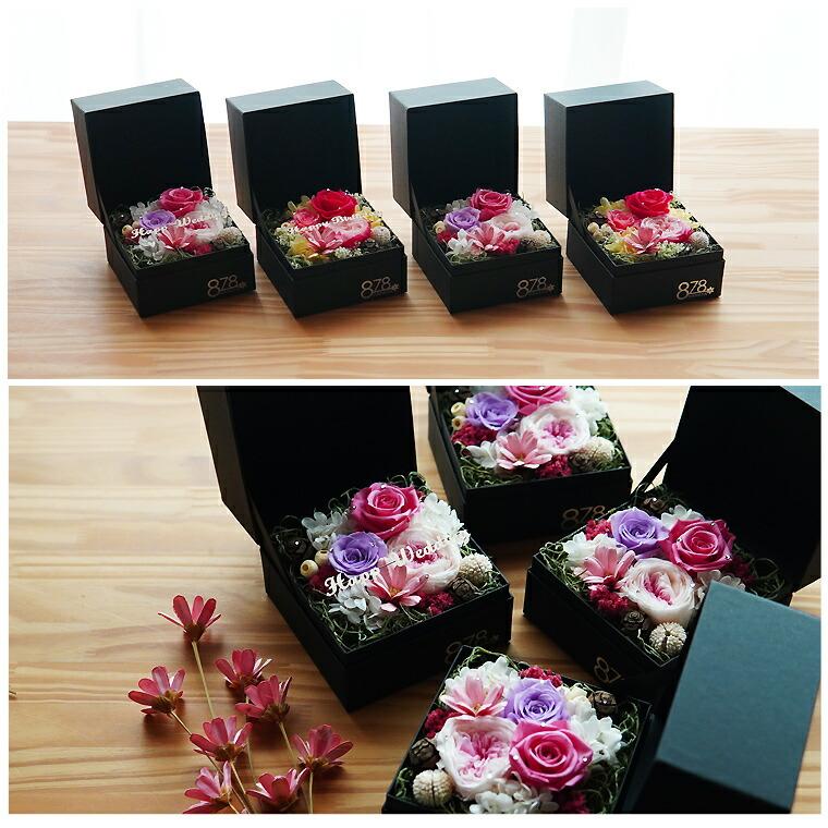 説明2 ボックスフラワー キューブ 誕生日 プレゼント 花 アレンジ 女性