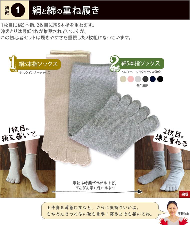 絹と綿の重ね履き