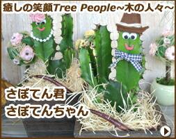 癒しの笑顔Tree People 〜木の人々〜 サボテン君 サボテンちゃん