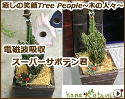 癒しの笑顔Tree People 〜木の人々〜 電磁派吸収スーパーサボテン君