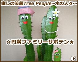 癒しの笑顔Tree People 〜木の人々〜 円満ファミリーサボテン