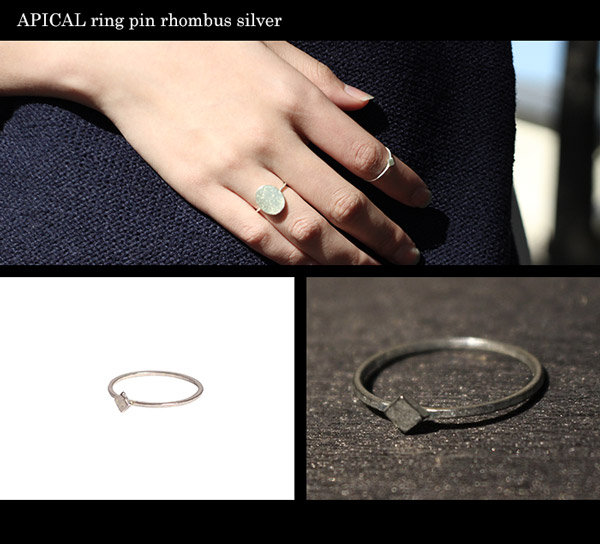 APICAL ring oval curve silver