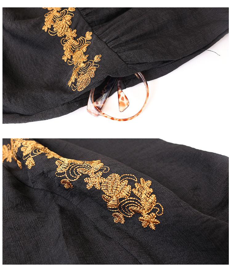 アクセント花刺繍のギャザーワンピース【7月3日8時販売新作】