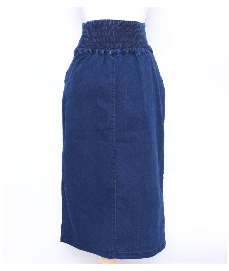 リングジップ付きハイウエストタイトスカート【7月13日8時販売新作】