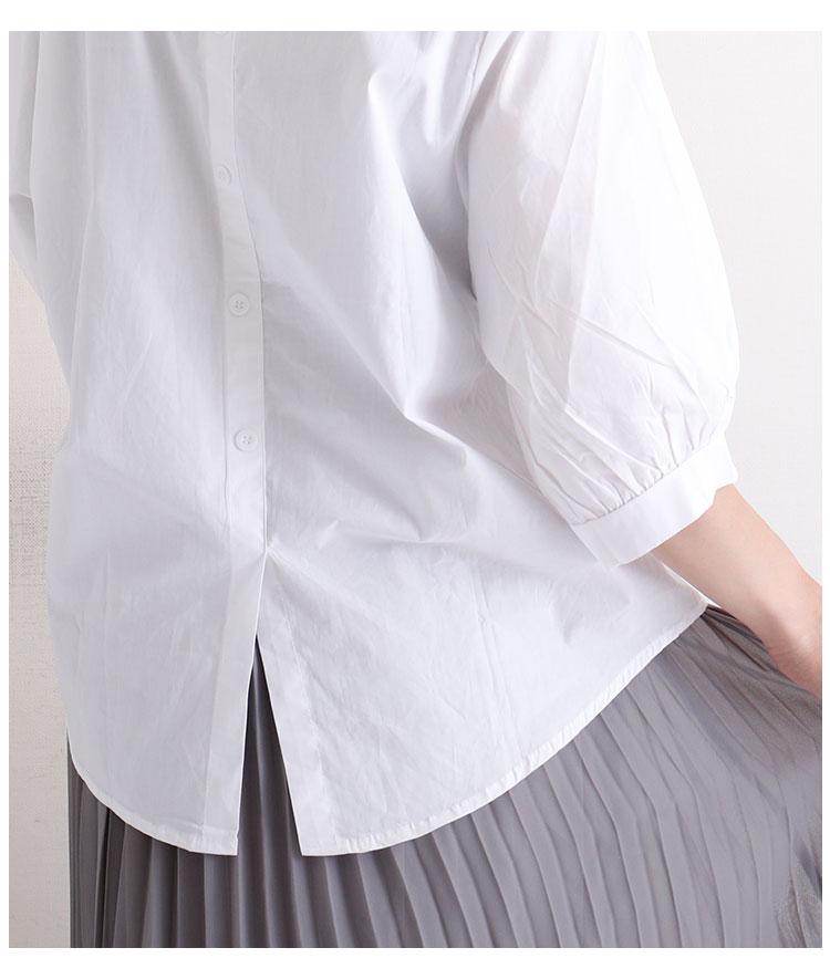 花コサージュ煌めくスキッパーブラウス【7月17日8時販売新作】