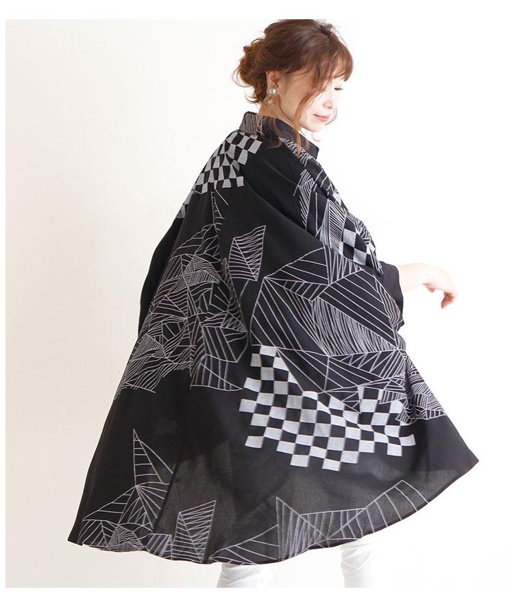 ポンチョフォルムのモノクロシャツチュニック【8月10日8時販売新作】