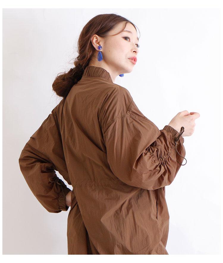 ふんわり袖のドローコード付きワンピース【9月18日8時販売新作】
