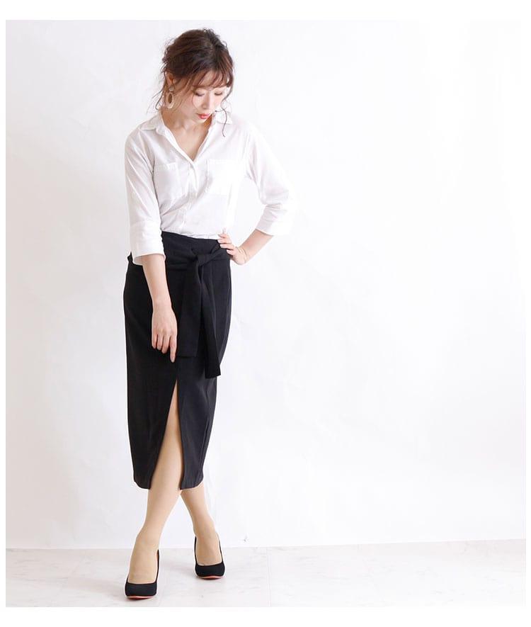 ウエストマークのスリットタイトスカート【9月28日8時販売新作】