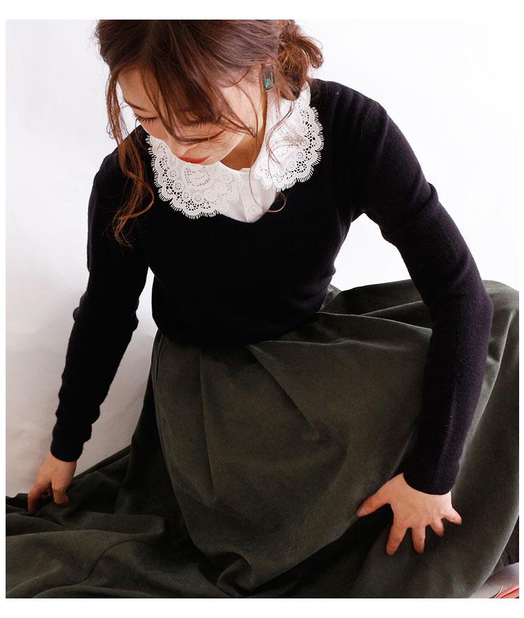繊細レースの美しい付け襟【10月23日8時販売新作】