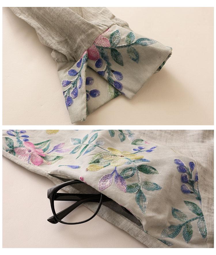 花刺繍切替のロングシャツ【10月21日8時販売新作】