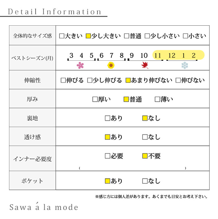 くるみボタンのトレンチ風コート【11月6日8時販売新作】