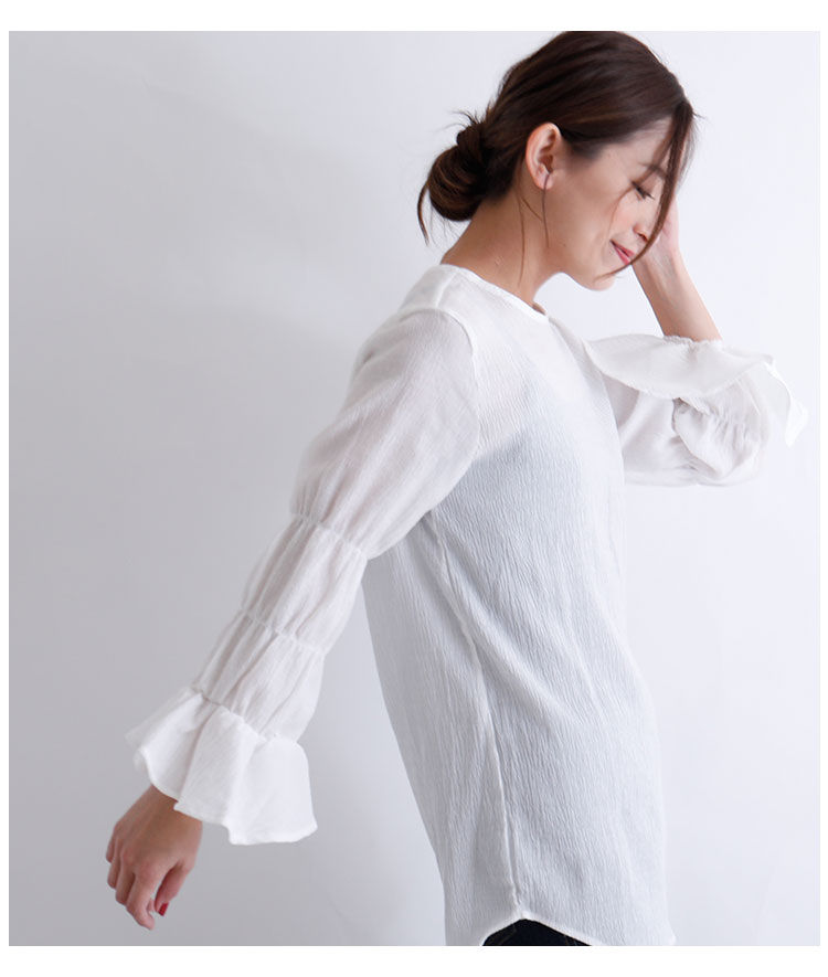 ベストセットのフレア袖シャツトップス【12月2日8時販売新作】
