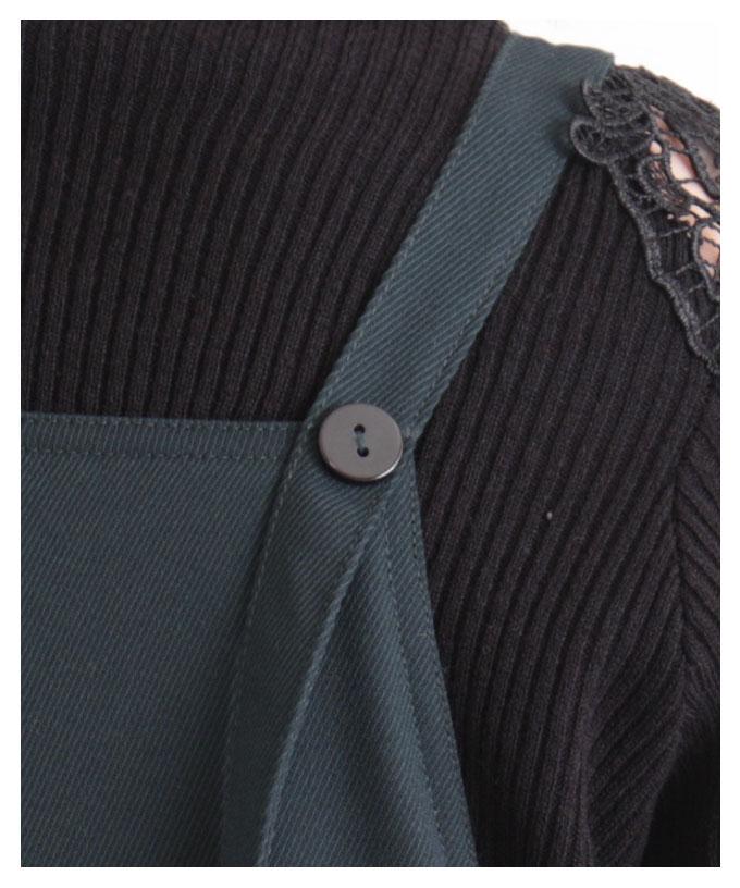 ボタンデザインのサロペットワンピース【12月2日8時販売新作】