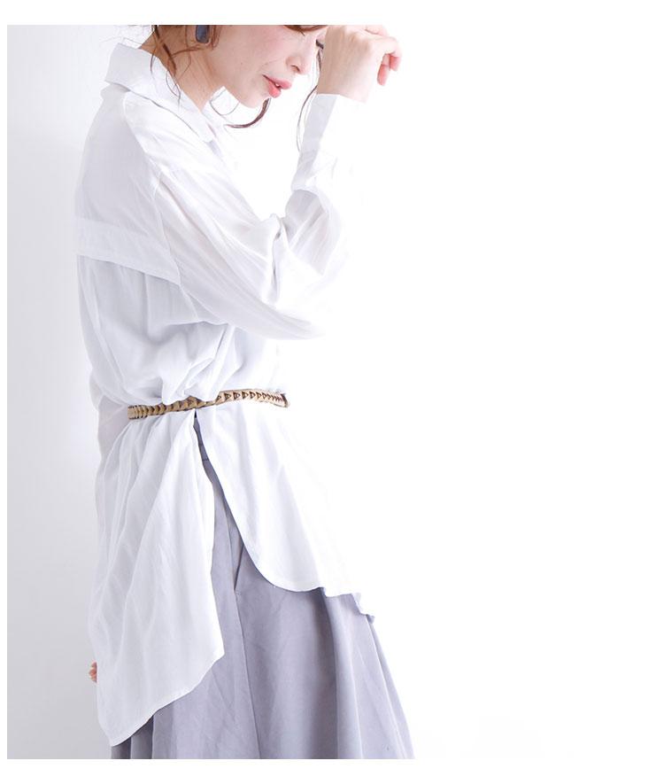 コーデを仕上げるレザー調スリムメッシュベルト【12月25日8時販売新作】