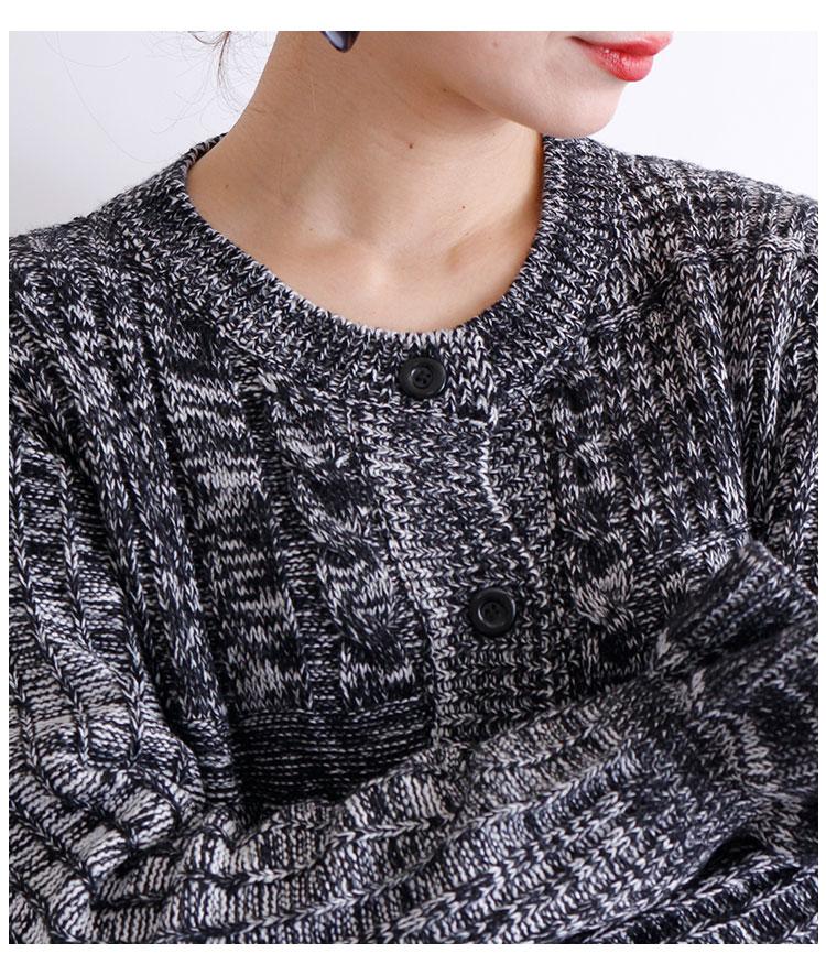 フリル袖のリブ編みニットぺプラムジャケット【12月25日8時販売新作】