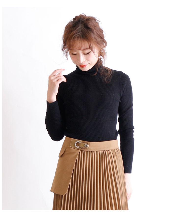 ベルト付きプリーツフレアスカート【1月15日8時販売新作】