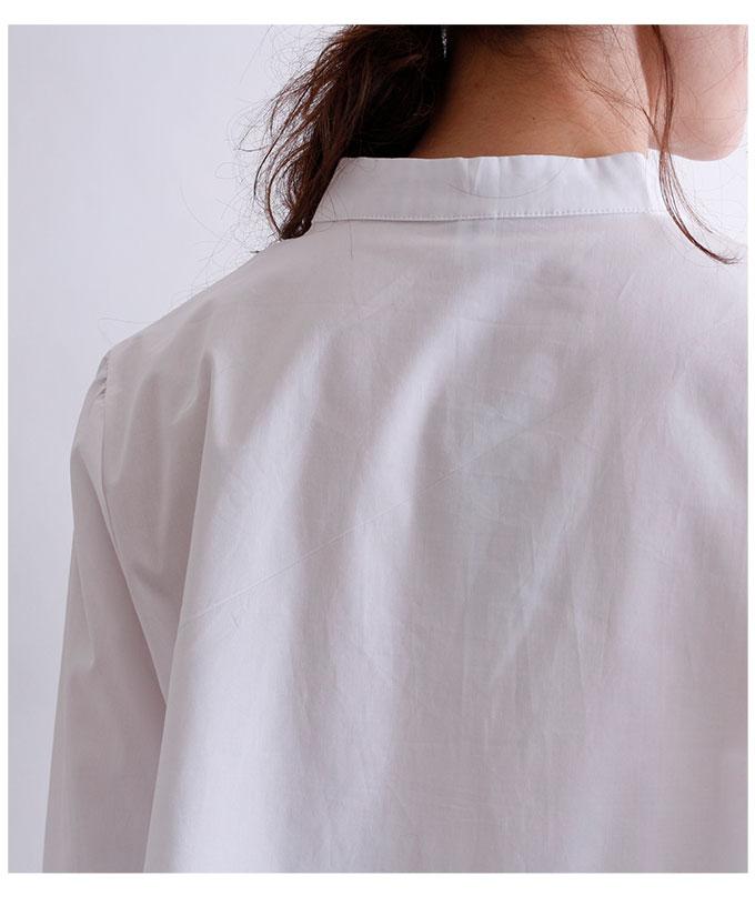 自然モチーフのカラフルイラスト刺繍の七分袖ブラウス【2月3日8時販売新作】