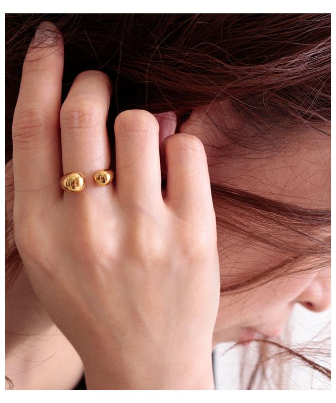 上品なゴールドのフリーサイズリング【2月24日8時販売新作】