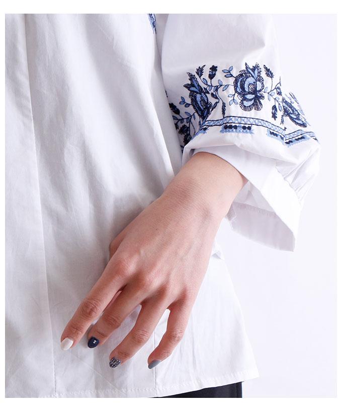 花刺繍のふんわりコットントップス【2月26日8時販売新作】