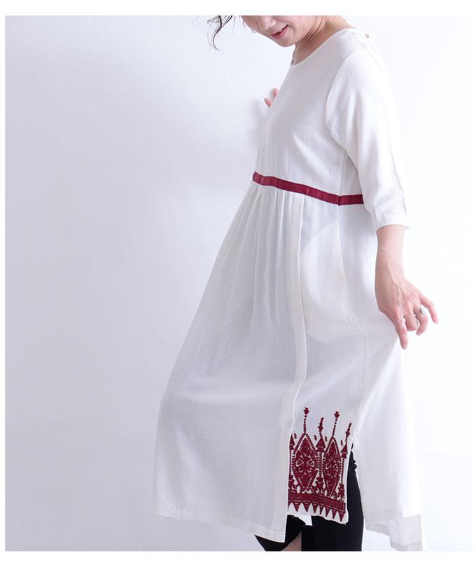 刺繍とリボンのゆったりワンピース【3月25日8時販売新作】